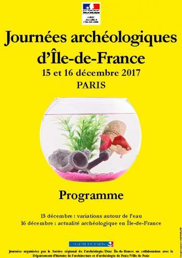 Journées archéologiques d'Île-de-France 2017