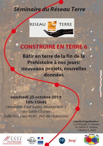 Affiche séminaire Réseau Terre 2019