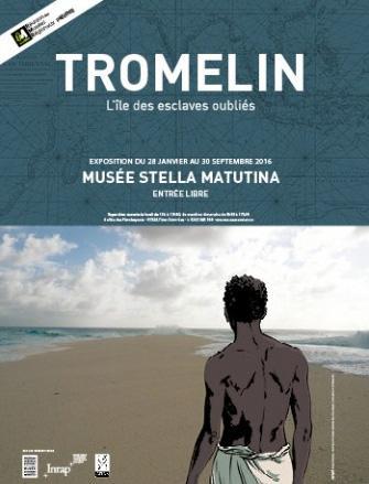 Affiche exposition «Tromelin, l'île des esclaves oubliés »