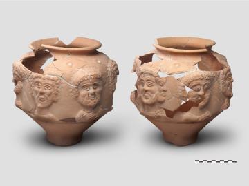 Vase à visages (IIIe siècle)