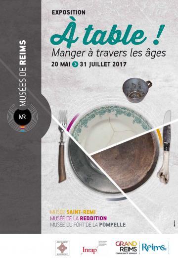 affiche a table musée saint remi Reims