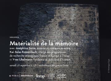 Matérialité de la mémoire