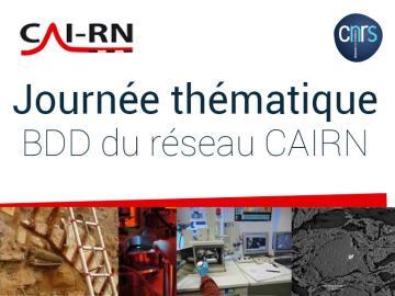 Journée thématique BDD du réseau CAIRN