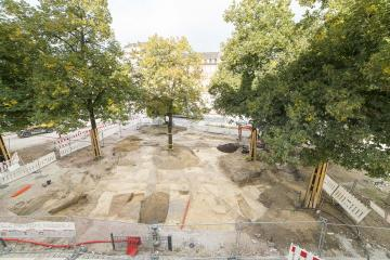 Vue générale du site de la place Sainte-Aurélie.