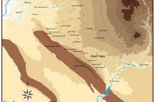 carte de localisation du site (Kurdistan irakien)