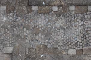 Rouen, Saint-Eloi, restitution photogrammétrique du chemin pavé moderne