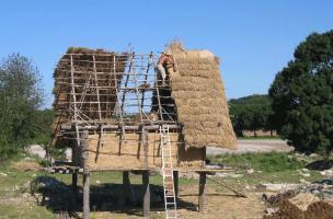 6-7-4 Reconstitution d'un grenier carolingien