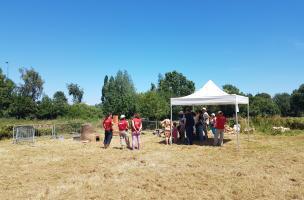 Village de l'archéologie au Chronographe, à Rezé