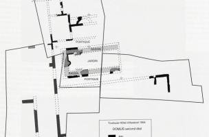 Plan de la domus antique, Ier-IIe siècles ap. J.-C