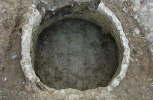 Empreinte d'une cuve, milieu du XIVe siècle.