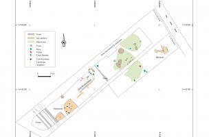 Plan d'ensemble du site (extrait cadastral des parcelles section 12 AI 4 et 5)