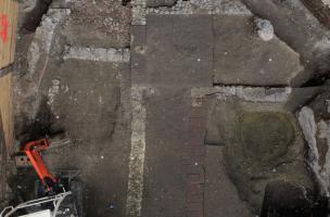Vue d'ensemble du bâti antique, fin du Ier siècle-IIIe siècle