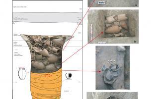 Coupe du puits gaulois avec les clichés numériques