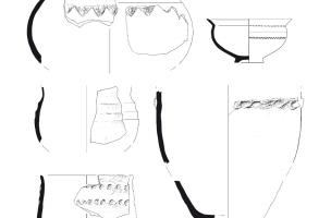 Vases en céramique de la fin de l'âge du Bronze