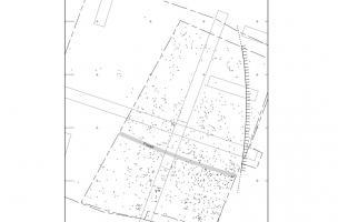 Plan de répartition des vestiges paléolithiques