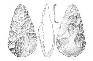 Biface en quartzite 2