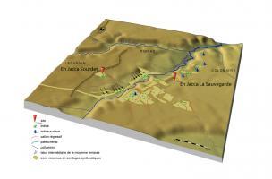 Localisations et résultats synthétiques des diagnostics archéologiques