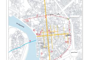 Plan antique de Toulouse et localisation du site