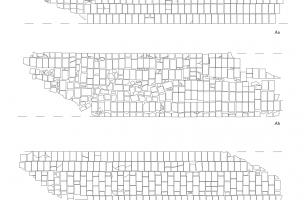 Comparaison de la pose des briques des assises Aa-Ab-Ac