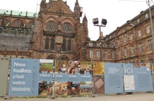 Les peintures romaines exceptionnelles de la place du Château à Strasbourg