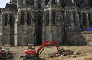 38 - Le Mans, Jardins de la cathédrale