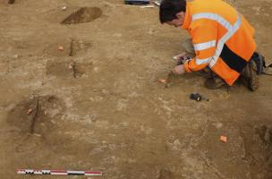Un habitat de l'âge du Bronze et une ferme médiévale découverts à Caudan (Morbihan)