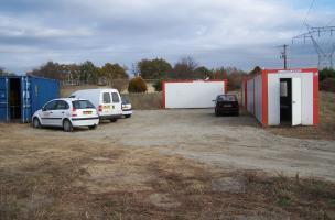Installation « base de vie » d'un chantier à Seilh (Haute-Garonne)