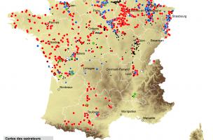 carte des opérateurs (nov. 2011)