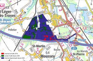 Moussey - Plan général du Parc Logistique de L'aube