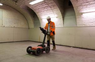 acquisition de données radar dans les caves du musée des Beaux-Arts de Dijon