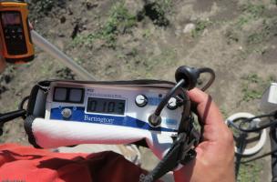 mesure de la susceptibilité magnétique sur surface décapée