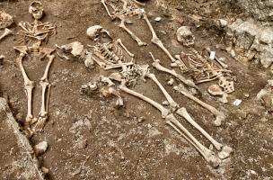 Quatre inhumations du cimetière paroissial médiéval et moderne de la basilique Notre-Dame de Boulogne-sur-Mer (Pas-de-Calais), 2012.