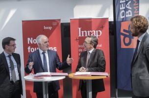 Signature d'une convention-cadre de collaboration entre l'Inrap et le groupe Demathieu Bard, le 23 mai 2018