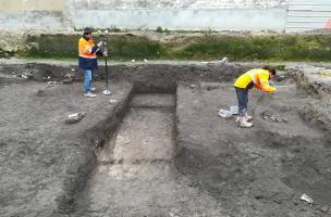 Fouille d'un quartier romain et cimetière du MA à Reims