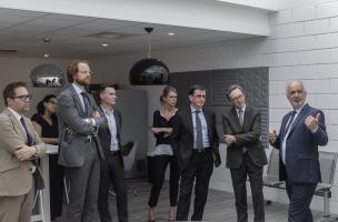 Signature de la convention-cadre de collaboration entre l'Inrap et le groupe Demathieu Bard Immobilier dans les locaux de l'Inrap