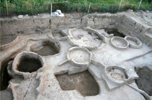 architecture circulaire en briques crues du Néolithique