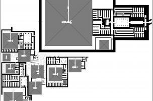 Plan général de la nécropole de Pépy Ier (Saqqâra)