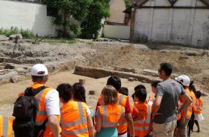 Visite de chantier de fouilles à Strasbourg