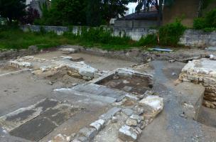 Fouille archéologique sur l'îlot Renaudin à Angoulême, vue zone jardin