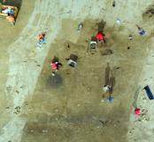 Villeneuve - Le terrain en cours de fouille