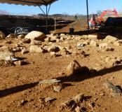 Fouille d'un campement préhistorique solutréen à Boulazac