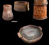 Exemples de pots en bois ou en écorces de bouleau (Iakoutie)