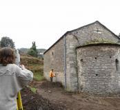 Relevé archéologique de l'église Saint-Jean-l'évangéliste.