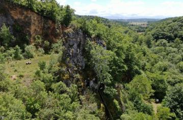 """Dans la grotte """"coupe-gorge"""" à Montmaurin (Haute-Garonne)"""