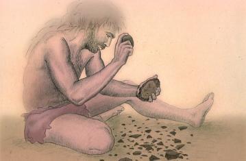 Dessin d'homme du Paléolithique