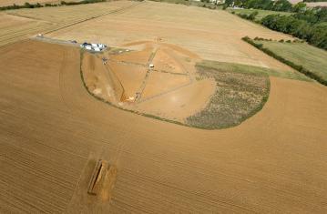 Vues 360° de la nouvelle fouille de Vix (Côte-d'Or)