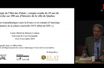 Archéologie de lîlot des Palais : compte-rendu de 35 ans de recherche sur 350 ans d'histoire de la ville de Québec