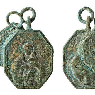 Médailles pieuses provenant de Notre-Dame de Grâce de Cambrai et de la Cathédrale de Cologne (XVIIe-XVIIIe siècle). Identification, T. Cardon.
