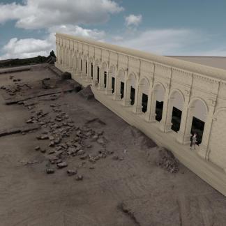 Reconstitution 3D de la façade du monument de Pont-Sainte-Maxence