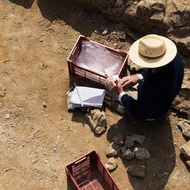 Sur le chantier de fouilles